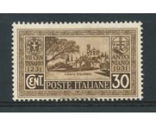 1931 - LOTTO/16984 - REGNO - 30 CENT. S. ANTONIO - NUOVO