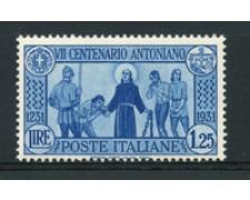1931 - LOTTO/16987 - REGNO - 1,25 LIRE S. ANTONIO - NUOVO