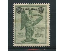 1924 - LOTTO/16991 - REGNO - 1 SU 5c. ANNIVERSARIO VITTORIA