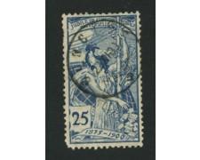 1900 - LOTTO/1701A - SVIZZERA - 25c. U.P.U.  - USATO