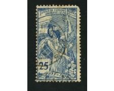 1900 - LOTTO/1701C - SVIZZERA - 25c. U.P.U.  - USATO