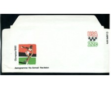 1980 - LOTTO/17171 - STATI UNITI - OLIMPIADI AEROGRAMMA 22c. - nuovo