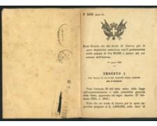1886 - LOTTO/17215 - REGNO - REGIO DECRETO DI UMBERTO I°