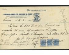 1925 - LOTTO/17217 - REGNO -  SINGER MEMORANDUM RICEVUTA