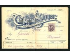 1925 - LOTTO/17218 - REGNO -  SINGER FATTURA