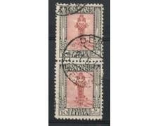 1926/30 - LOTTO/17235C - LIBIA - 10c. PITTORICA COPPIA USATI