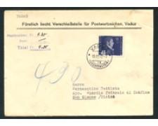 1948 - LOTTO/17339 - LIECHTENSTEIN - 40 r. POSTA AEREA SU BUSTA