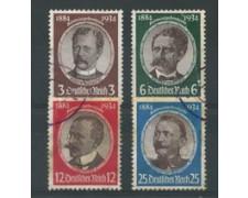 1934 - LOTTO/17428 - GERMANIA REICH - CINQUANTENARIO COLONIE 4V. - USATI