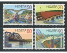 1991 - LOTTO/17430 - SVIZZERA - PONTI 4v. - NUOVI
