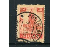 1919 - LOTTO/17432 - FIUME - 10 c. ALLEGORIE E VEDUTE - USATO