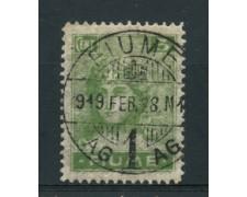 1919 - LOTTO/17433 - FIUME - 5c. VERDE CARTA SOTTILE - USATO