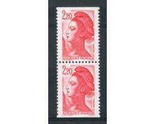 1985 - LOTTO/17436 - FRANCIA - 2,20 Fr. LIBERTA' COPPIA DA LIBRETTO