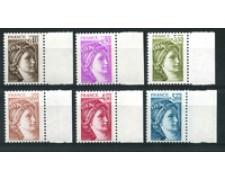 1981 - LOTTO/17444 - FRANCIA - SABINE 6v. GOMMA NORMALE - NUOVI