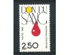 1988 - LOTTO/17451 - FRANCIA - DONATORI SANGUE - NUOVO
