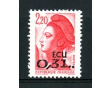 1988 - LOTTO/17453 - FRANCIA -  LIBERTA' IN ECU - NUOVO