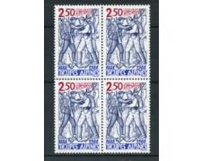 1988 - LOTTO/17461Q - FRANCIA - TRUPPE ALPINE - QUARTINA