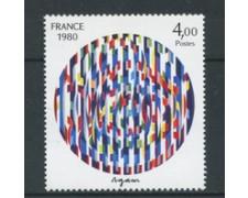 1980 - LOTTO/17496 - FRANCIA - 4 Fr. AGAM MESSAGGIO DI PACE - NUOVO