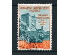 1956 - LOTTO/17557 - SAN MARINO - 100 LIRE PERITI FILATELICI - USATO