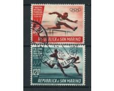 1955 - LOTTO/17561 - SAN MARINO -  FRANCOBOLLO OLIMPICO P/A 2v. - USATI