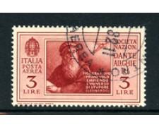 1932 - LOTTO/17578 - REGNO - 3 LIRE P/A PRO DANTE ALIGHIERI - USATO