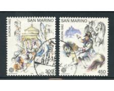 1982 - LOTTO/17583 - SAN MARINO - EUROPA 2v. - USATI.