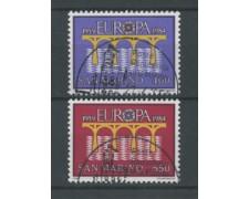 1984 - LOTTO/17588 - SAN MARINO - EUROPA 2v. - USATI