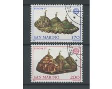 1977 - LOTTO/17597 - SAN MARINO - EUROPA 2v. - USATI