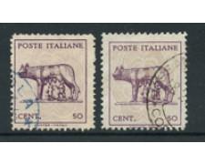 1944 - LOTTO/17639 -  LUOGOTENENZA - 50c. LUPA - USATI