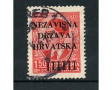 1941 - LOTTO/17654 - CROAZIA - 1,50 INDIPENDENZA - USATO