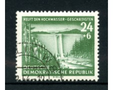 1954 - LOTTO/17663 - GERMANIA DDR - AIUTO VITTIME INONDAZIONI - USATO