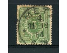 1880  - LOTTO/17669 - GERMANIA IMPERO - 3 PFENNIG VERDE - USATO