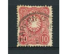 1880  - LOTTO/17671 - GERMANIA IMPERO - 10 PFENNIG ROSA - USATO