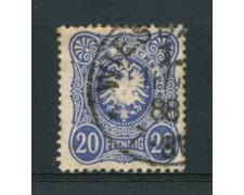 1880 - LOTTO/17672 - GERMANIA IMPERO - 20  PFENNIG AZZURRO - USATO