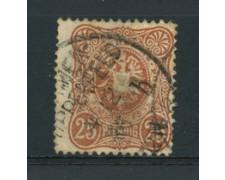 1880 - LOTTO/17673A - GERMANIA IMPERO - 25  PFENNIG  BRUNO - USATO