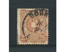 1880 - LOTTO/17673B - GERMANIA IMPERO - 25  PFENNIG  BRUNO - USATO