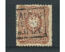 1880 - LOTTO/17673 - GERMANIA IMPERO - 25  PFENNIG  BRUNO - USATO