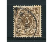 1889 - LOTTO/17675 - GERMANIA - 3 PFENNIG BRUNO - USATO