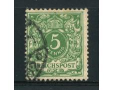 1889 - LOTTO/17676 - GERMANIA - 5 PFENNIG VERDE - USATO