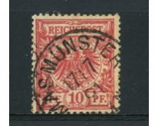 1889 - LOTTO/17677 - GERMANIA - 10 PFENNIG ROSSO - USATO
