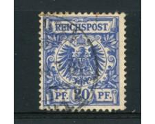 1889 - LOTTO/17678 - GERMANIA - 20 FENNIG OLTREMARE - USATO