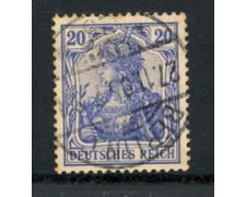 1902 - LOTTO/17686 - GERMANIA - 20p. AZZURRO - USATO