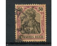1902 - LOTTO/17690 - GERMANIA - 50p. VIOLETTO NERO - USATO