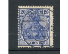 1905 - LOTTO/17696 - GERMANIA - 20p. AZZURRO VIOLETTO - USATO