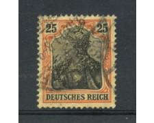1905 - LOTTO/17698 - GERMANIA - 25p. ROSSO NERO SU GIALLO - USATO