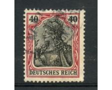 1905 - LOTTO/17700 - GERMANIA - 40p. CARMINIO NERO - USATO