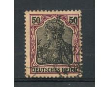 1905 - LOTTO/17701 - GERMANIA - 50p. CARMINIO NERO - USATO