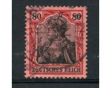 1905 - LOTTO/17703 - GERMANIA - 80p. ROSSO E NERO SU ROSA - USATO
