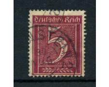 1921 - LOTTO/17743 - GERMANIA REICH - 5p. VINACEO - USATO