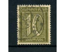 1921 - LOTTO/17744 - GERMANIA REICH - 10p. OLIVA - USATO