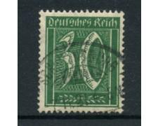 1921 - LOTTO/17747 - GERMANIA REICH - 30p.  VERDE - USATO